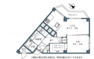 大田区石川町東急ドエルアルス石川台B棟2790万円の間取り図