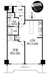 目黒区柿の木坂柿の木坂サニーハイツの間取り図