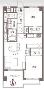 新宿区下落合トキワパレスの間取り図