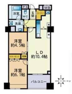 中野区新井パークハウス中野アーバンス4780万円の間取り図