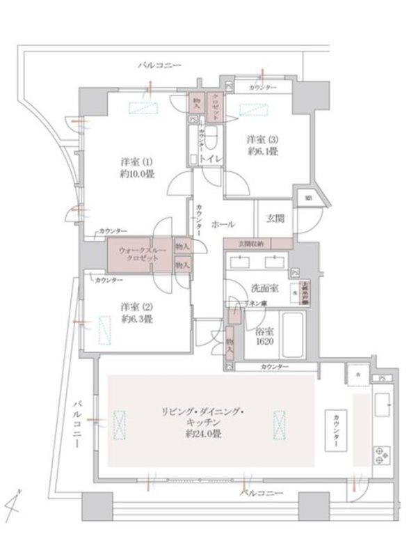 幡ヶ谷ハイムグランシス1億3500万円