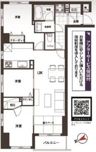 台東区入谷入谷アムフラット24780万円の間取り図