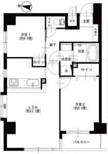 台東区入谷グランベル上野の杜の間取り図