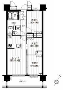 台東区千束エグザ三ノ輪アヴェニール4299万円の間取り図