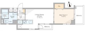 新宿区新宿中銀マーブルマンシオン新宿5丁目3490万円の間取り図