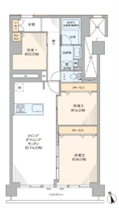 新宿区富久町シャトレ市ヶ谷の間取り図