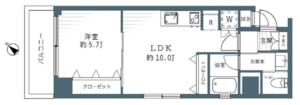 中央区築地秀和第2築地レジデンスの間取り図
