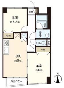 中野区中央東中野フレンドマンションの間取り図