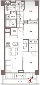 渋谷区猿楽町サンビューハイツ渋谷6280万円の間取り図