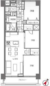 渋谷区猿楽町サンビューハイツ渋谷の間取り図