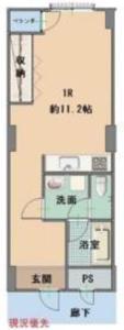 渋谷区渋谷常盤松葵マンション2800万円の間取り図