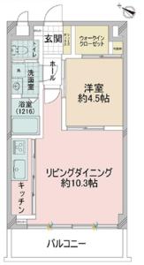港区赤坂ルイマーブル乃木坂の間取り図