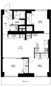 豊島区駒込駒込コーポラス4399万円の間取り図