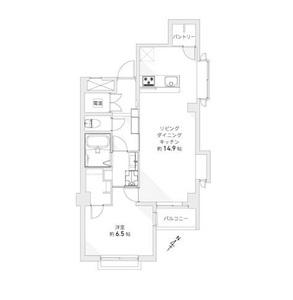 台東区蔵前柳橋リバーサイドマンションの間取り図