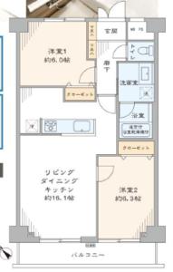 文京区白山藤和白山コープ4580万円の間取り図