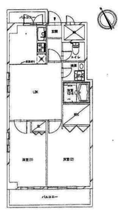 港区芝浦ローレルプラザ田町3680万円の間取り図