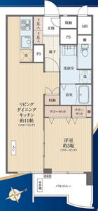 豊島区西池袋ソフトタウン池袋3180万円の間取り図