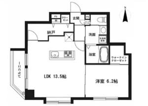 墨田区亀沢ルリオン錦糸町エグゼの間取り図