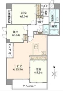 中野区本町シーアイマンション新中野の間取り図
