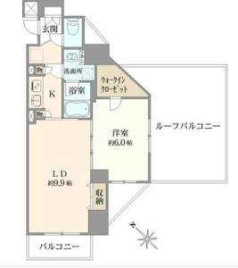 中野区中央日神デュオステージ新中野4050万円の間取り図