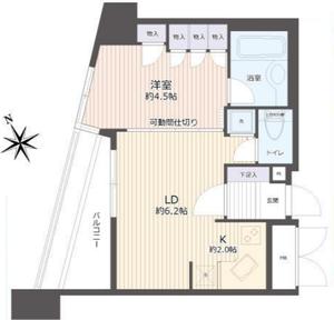 豊島区南池袋イトーピアアルファシティ池袋3580万円の間取り図