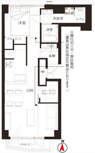 渋谷区代々木ライオンズマンション代々木の間取り図