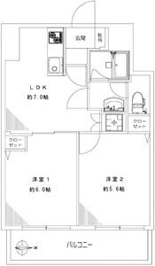 渋谷区千駄ヶ谷御苑パビリオン2998万円の間取り図