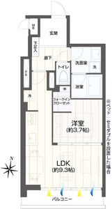 渋谷区千駄ヶ谷第15宮庭マンションの間取り図