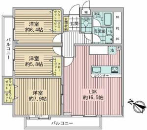 新宿区高田馬場ハウス高田馬場の間取り図