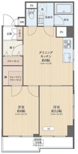 江東区亀戸ハピーハイツニュー亀戸2680万円の間取り図
