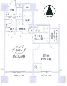 豊島区高松池袋西ハイムの間取り図