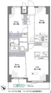板橋区南町シーアイマンション池袋西の間取り図
