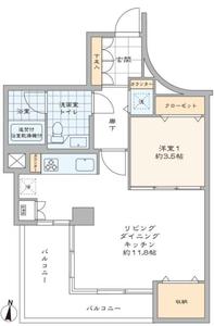 港区赤坂パレ乃木坂の間取り図