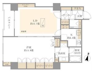 港区赤坂アクシア青山の間取り図