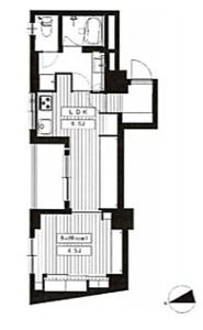 中野区中央塔の山ハイツの間取り図