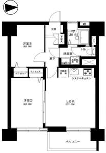 新宿区下落合高田馬場住宅3199万円の間取り図