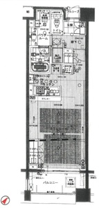 台東区駒形シティハウス浅草ステーションコート3698万円の間取り図