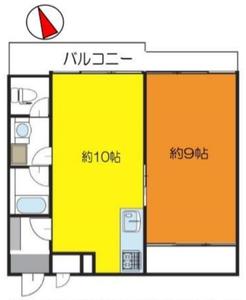 豊島区長崎豊島ハイツ2180万円の間取り図