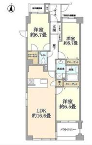 中野区新井ハウス中野7690万円の間取り図