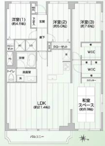 文京区向丘ファミール本郷の間取り図