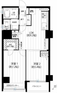 新宿区高田馬場メゾンドール高田馬場3299万円の間取り図