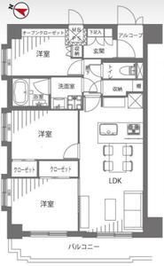 板橋区熊野町ナイスアーバン池袋山手通りの間取り図
