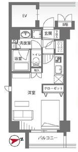 千代田区外神田レガリアシティ神田末広町の間取り図