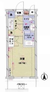 千代田区神田和泉町菱和パレス秋葉原駅前の間取り図