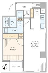 中央区日本橋浜町浜町サンフラワーマンションの間取り図