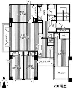 豊島区池袋本町サンサーラ池袋4780万円の間取り図