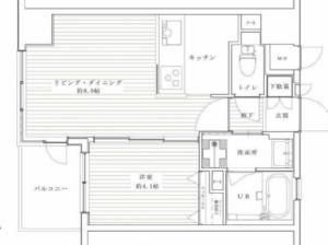 文京区根津シーアイマンション根津弥生坂3080万円の間取り図
