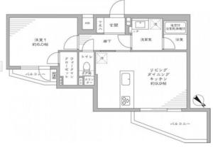 新宿区西新宿フィールM西新宿3998万円の間取り図