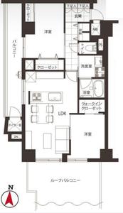 豊島区高田ニチメン目白ハイツの間取り図