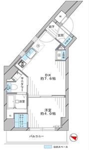 中野区中野藤和シティコープ中野2780万円の間取り図